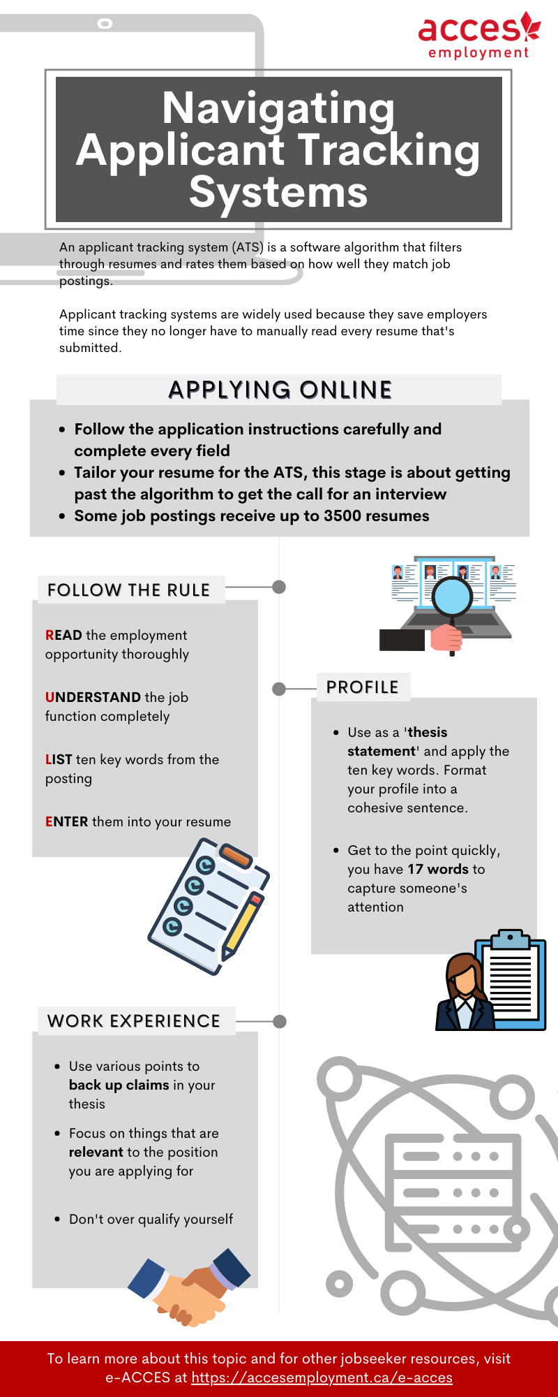 navigating applicant tracking systems infographic